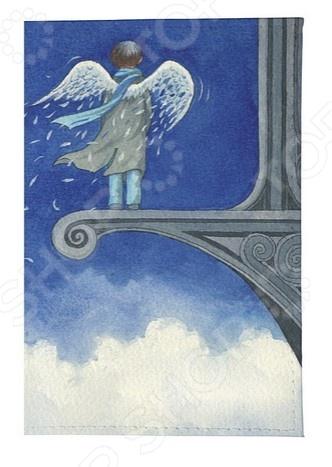 Обложка для автодокументов кожаная Mitya Veselkov «Ангел в небесах» обложка для автодокументов кожаная mitya veselkov лось