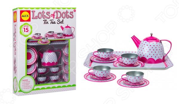 Чайный набор игрушечный Alex «Горошек» чайный набор alex в горошек металлическая 705pd