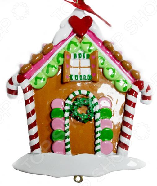 Елочное украшение Crystal Deco «Новогодний домик» 1707824