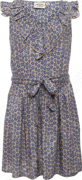 Платье для девочки Finn Flare KS16-71012. Цвет: песочный