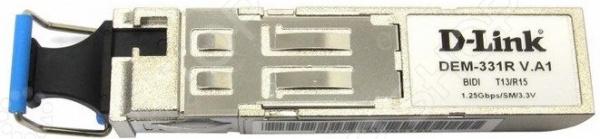 Трансивер D-Link DEM-331R/A1A модуль d link dem 302s bxu 10a1a 10шт в коробке wdm sfp трансивер с 1 портом 1000base bx u tx 1310 нм rx 1550 нм для одномодового оптического ка