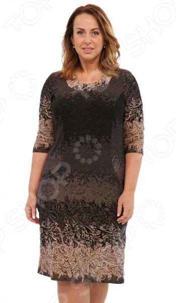 Платье LORICCI «Белые ночи». Цвет: коричневый платье loricci белые ночи цвет серый