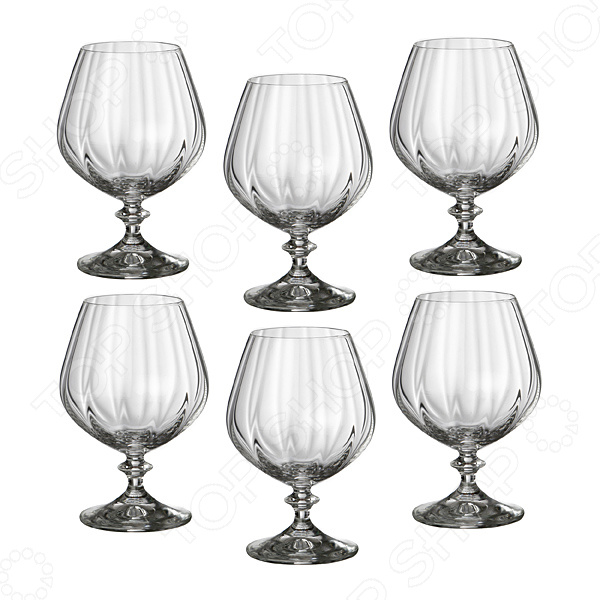 Набор бокалов для коньяка Bohemia Crystal «Анжела» 674-187 набор бокалов для бренди коралл анжела 40600 00000 400