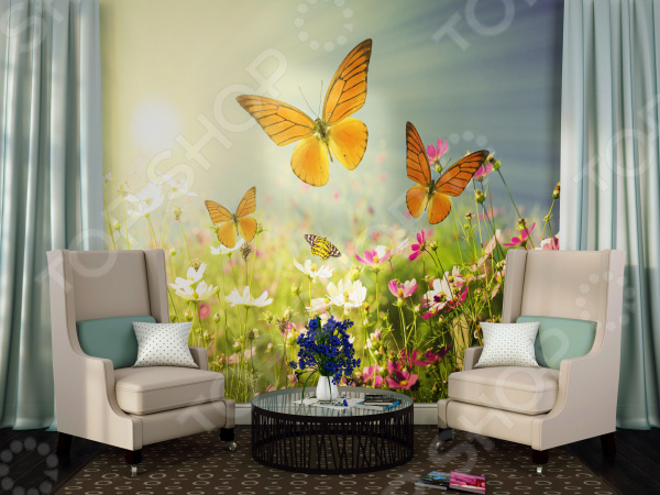 Zakazat.ru: Фотообои ТамиТекс «Полевые бабочки»
