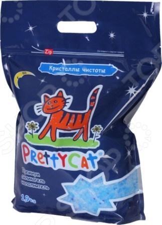 Наполнитель для кошачьего туалета PrettyCat «Кристаллы чистоты» претти кэт экспресс тест диагностический наполнитель для кошачьего туалета prettycat express test 110 г