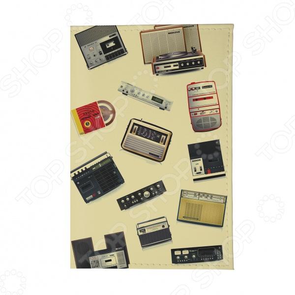 Обложка для автодокументов кожаная Mitya Veselkov «Радиоприемники»