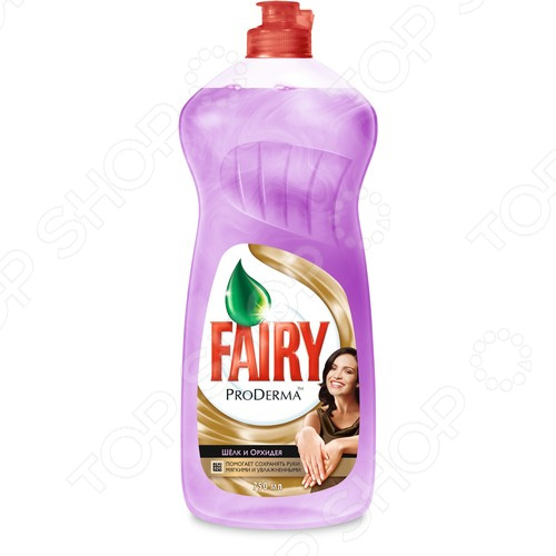 Средство для мытья посуды Fairy ProDerma «Шелк и Орхидея»