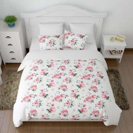 Купить Комплект постельного белья Сирень «Крупные пионы»