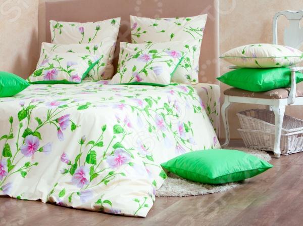 Комплект постельного белья MIRAROSSI Francesca white комплект белья mirarossi domenica семейный наволочки 70х70 цвет белый коралловый зеленый