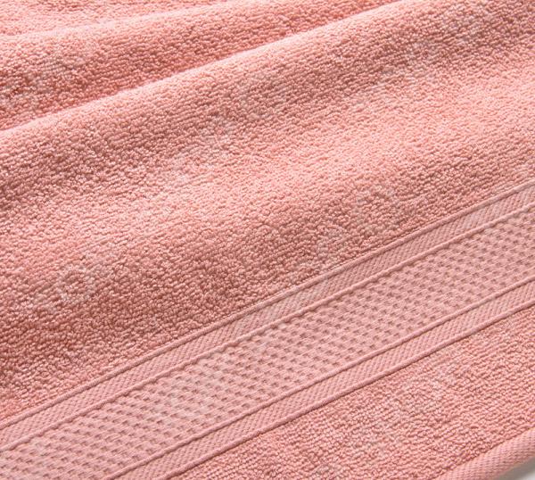 Полотенце махровое Uztex с бордюром. Цвет: кремовый