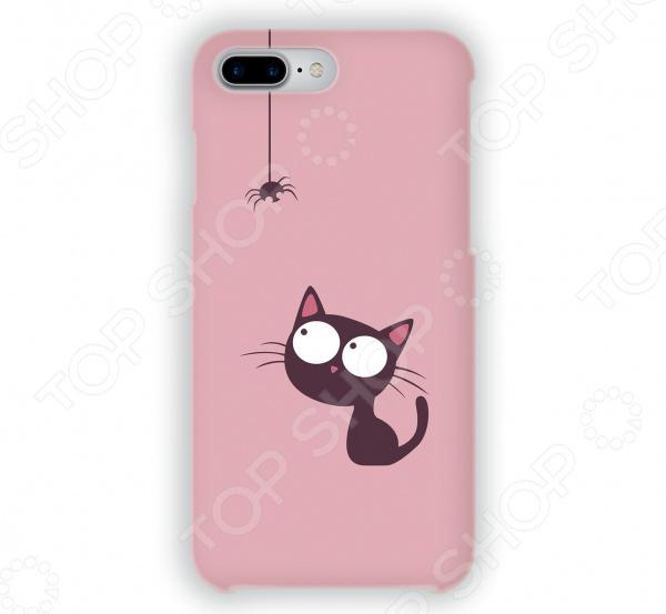 Чехол для iPhone 7 Plus Mitya Veselkov «Кошка и паучок» чехол для iphone 7 plus mitya veselkov сердца растения