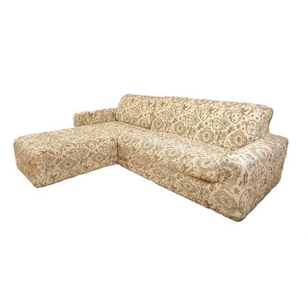 Купить Натяжной чехол на угловой диван с выступом слева Еврочехол «Виста. Флоренция»