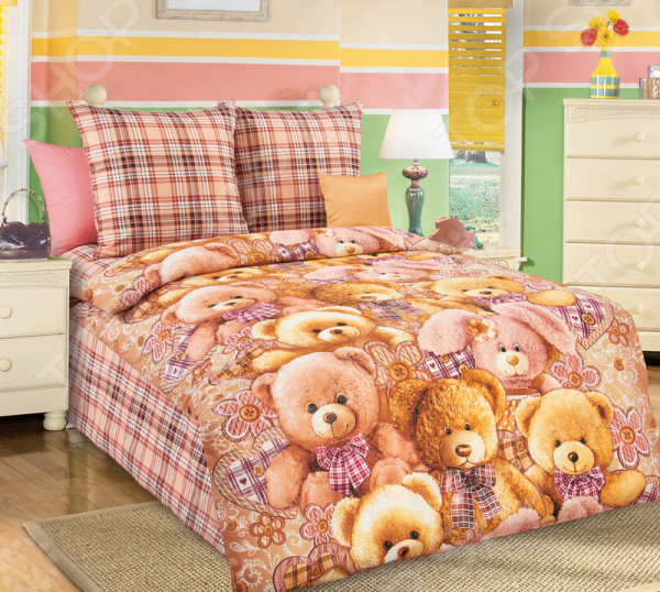 цена Детский комплект постельного белья Бамбино «Мишкины друзья» онлайн в 2017 году