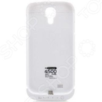 Чехол-аккумулятор Gmini GM-MPC-S45 для Galaxy S4 чехол с аккумулятором gmini mpower case mpcs45f white для galaxy s4 4500mah flip cover