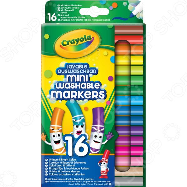 Набор смываемых мини-фломастеров Crayola 58-5055 блестящие фломастеры crayola 5 цветов 58 8645