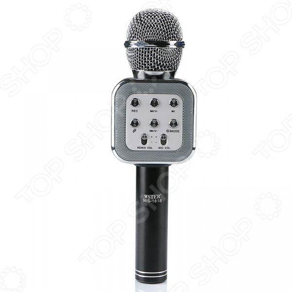Микрофон для караоке WS-1818    /Черный