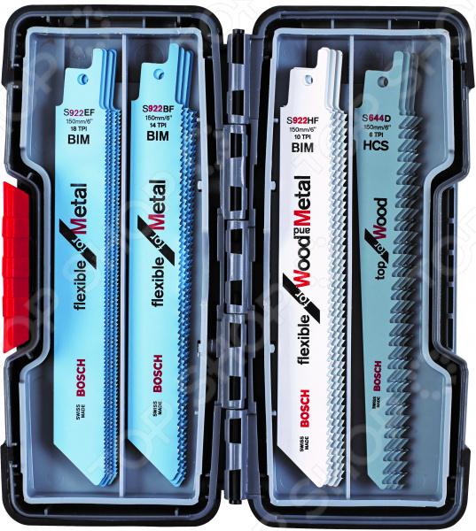 Набор полотен для сабельных пил Bosch 2607010902 набор пильных полотен bosch t108bhm