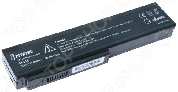 Фото Аккумулятор для ноутбука Pitatel BT-138 аккумулятор для ноутбука oem 5200mah asus n61 n61j n61d n61v n61vg n61ja n61jv n53 a32 m50 m50s n53s n53sv a32 m50 a32 n61 x 64 33 n53s n53sv a32 m50