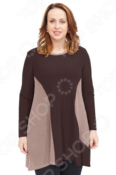 Туника Pretty Woman «Мягкое очарование». Цвет: коричневый недорго, оригинальная цена