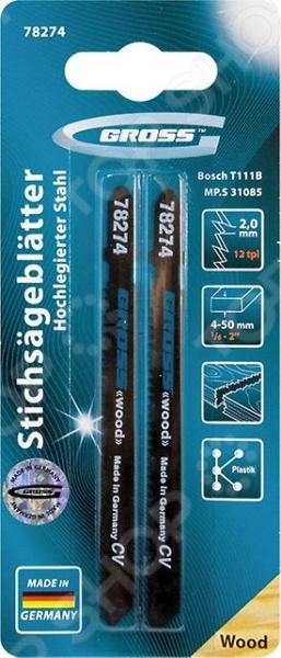 Пилки для электролобзика GROSS 78274