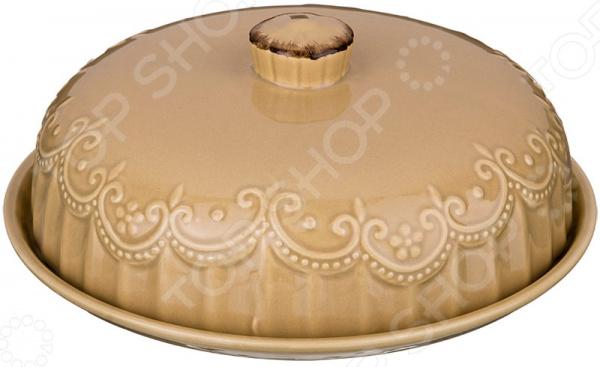 Блюдо для блинов с крышкой Agness «Капучино» 358-1260 блюдо agness 546 055