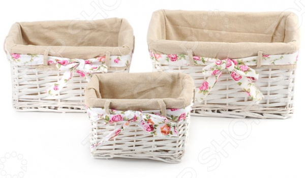 Zakazat.ru: Набор плетеных корзин с вкладкой Miolla SL1. Количество предметов: 3 шт