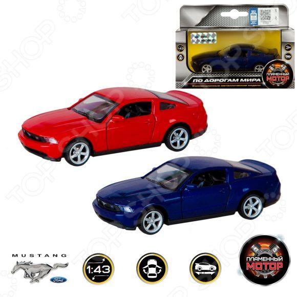 Модель автомобиля 1:43 Пламенный Мотор Ford Mustang GT. В ассортименте