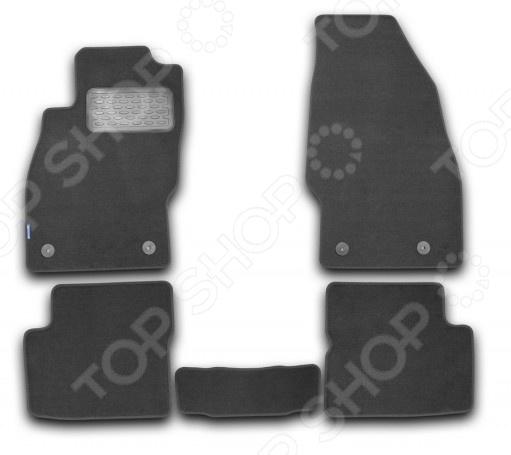 Комплект ковриков в салон автомобиля Novline-Autofamily Opel Corsa D 3D / 5D 2006 хэтчбек. Цвет: черный комплект ковриков в салон автомобиля novline autofamily hyundai verna 2006
