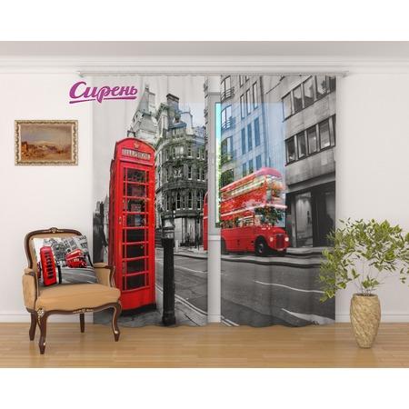 Купить Фототюль Сирень «Черно-белый Лондон»