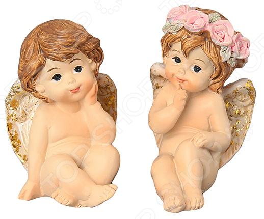 Набор декоративных фигурок Elan Gallery «Ангелочки» 670142 фигурки elan gallery набор из 4 х декоративных фигурок лисичка с лисенком