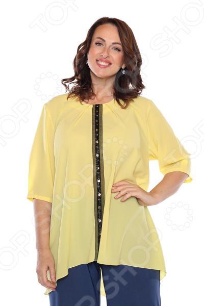 Блуза «Колорит». цвет: желтый блуза