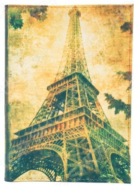 Обложка для паспорта кожаная Mitya Veselkov «Эйфелева осенью» запонки mitya veselkov эйфелева башня