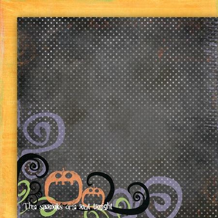 Бумага для скрапбукинга двусторонняя Fancy Pants Great Pumpkin