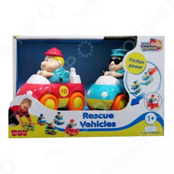 Набор машинок игрушечных HAP-P-KID «Пожарная и Скорая помощь» игрушки для ванны hap p kid игрушка для ванной со световым эффектом крабик