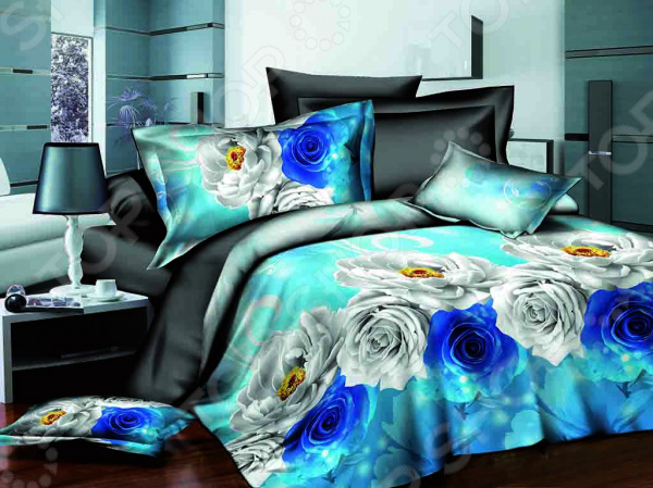 Комплект постельного белья Бояртекс «Синяя роза». 1,5-спальный