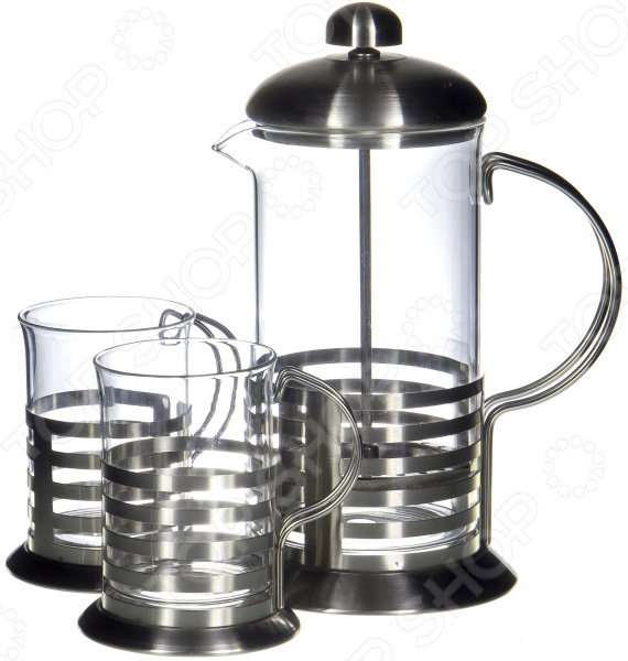 Френч-пресс с набором чашек Guterwahl YM-S2-009/600 набор кофейный guterwahl 3 предмета ym s2 014 600