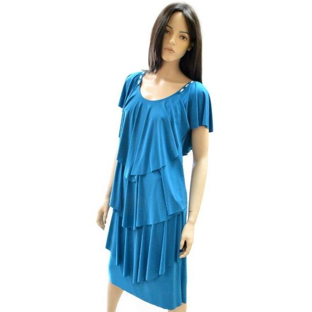 фото Платье Klimini Мальдивы. Цвет: бирюзовый. Размер одежды: 54