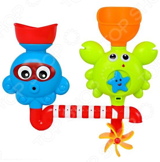 Игрушка для ванны детская Наша Игрушка «Осьминог и Крабик» заводная игрушка для ванны наша игрушка медвежонок m7039