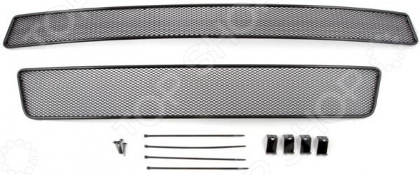 Комплект внешних сеток на бампер Arbori для ГАЗель Next, 2014. Цвет: черный hustler комплект топ и трусики в сетку
