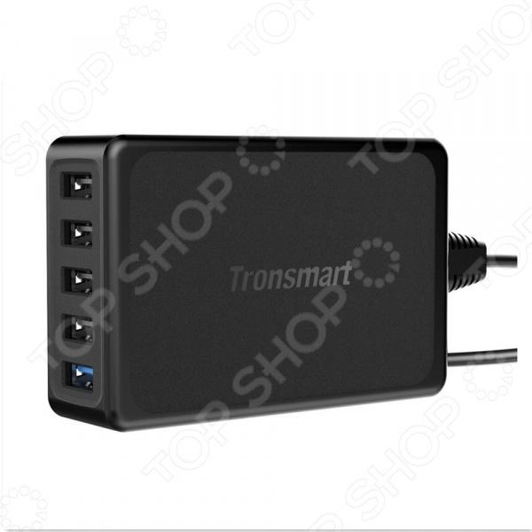 Устройство зарядное сетевое Tronsmart с пятью портами QC 3.0 и VoltIQ