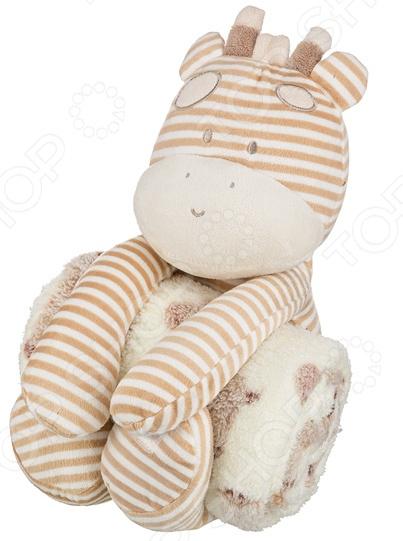 Плед детский с игрушкой Santalino «Жирафик» 851-018