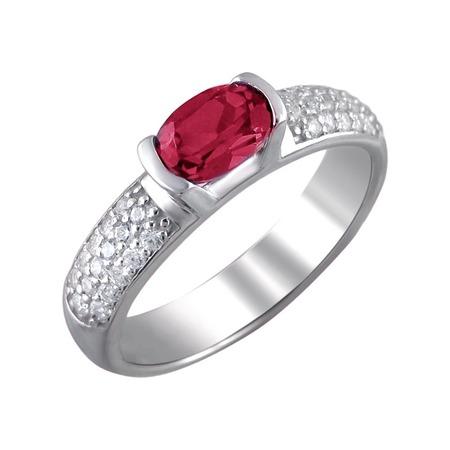 Купить Кольцо «Принцесса Персии» 01К252703-3. Модель: корунд рубиновый