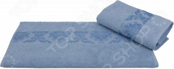 Полотенце махровое Hobby Home Collection Ruzanna. Цвет: голубой