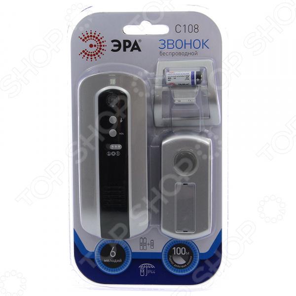Звонок беспроводной Эра C108 звонок электрический беспроводной светозар любимая мелодия 58075