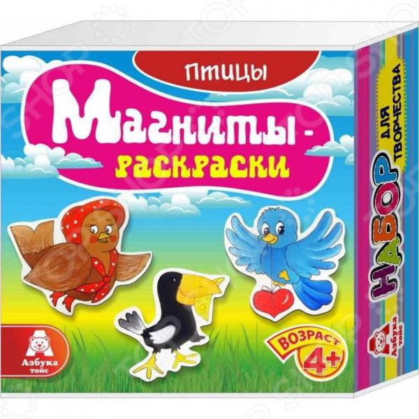 Магниты-раскраски Азбука тойс «Птицы»