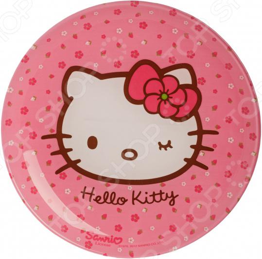 Тарелка десертная детская Luminarc Disney. Hello, Kitty!. Цвет: ярко-розовый