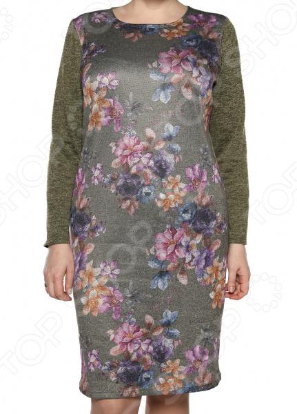 Платье Лауме-Лайн «Бархатный блюз». Цвет: оливковый