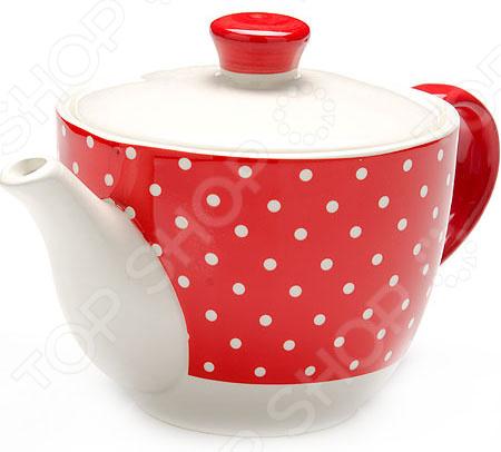 Чайник заварочный Loraine LR-25859 «Узор горошка»