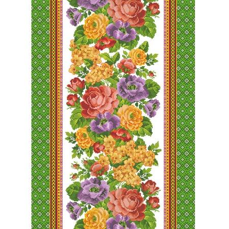 Купить Полотенце кухонное вафельное ТексДизайн «Жаклин». Цвет: зеленый
