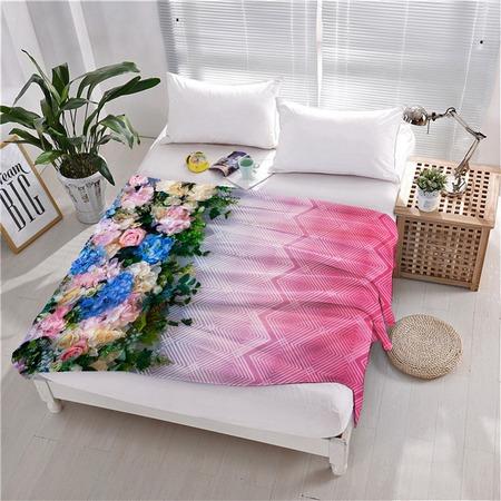 Купить Плед флисовый ТамиТекс «Бонжур». Цвет: розовый
